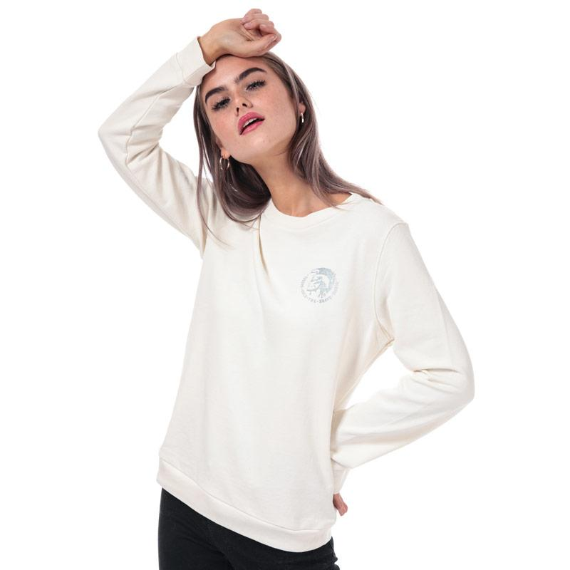 Mikina Diesel Womens Willa Crew Sweatshirt Natural