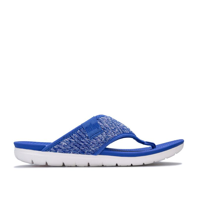 Boty Fit Flop Womens Artknit Toe Thong Sandals Blue
