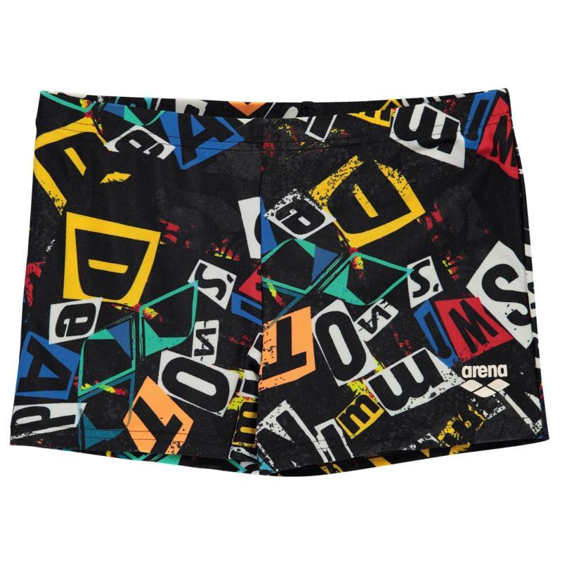 Plavky Arena Rowdy Shorts Junior Boys Black/Multi