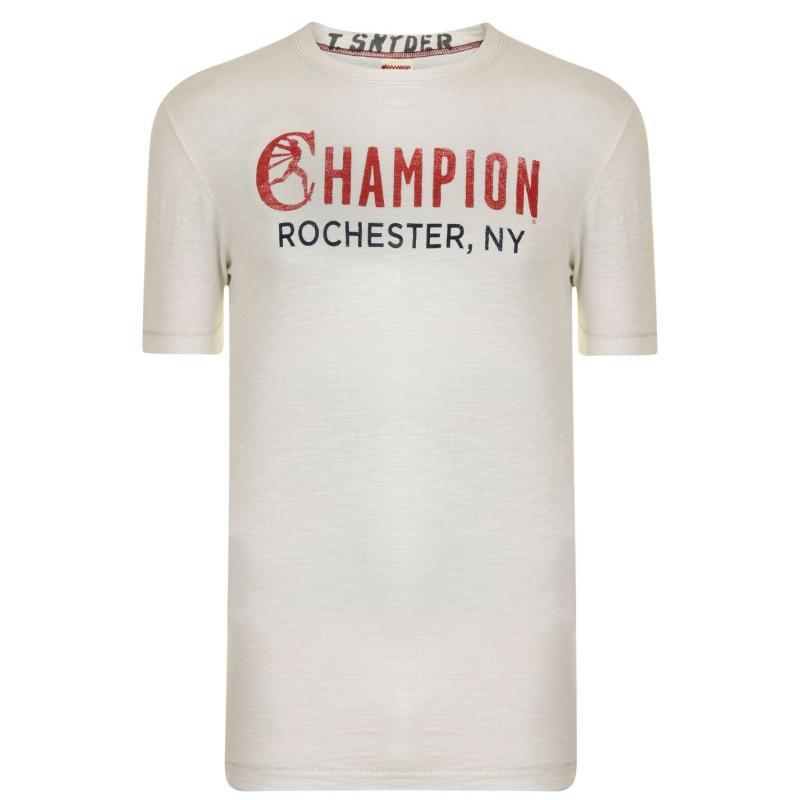 Tričko Champion Logo T Shirt Vintage White