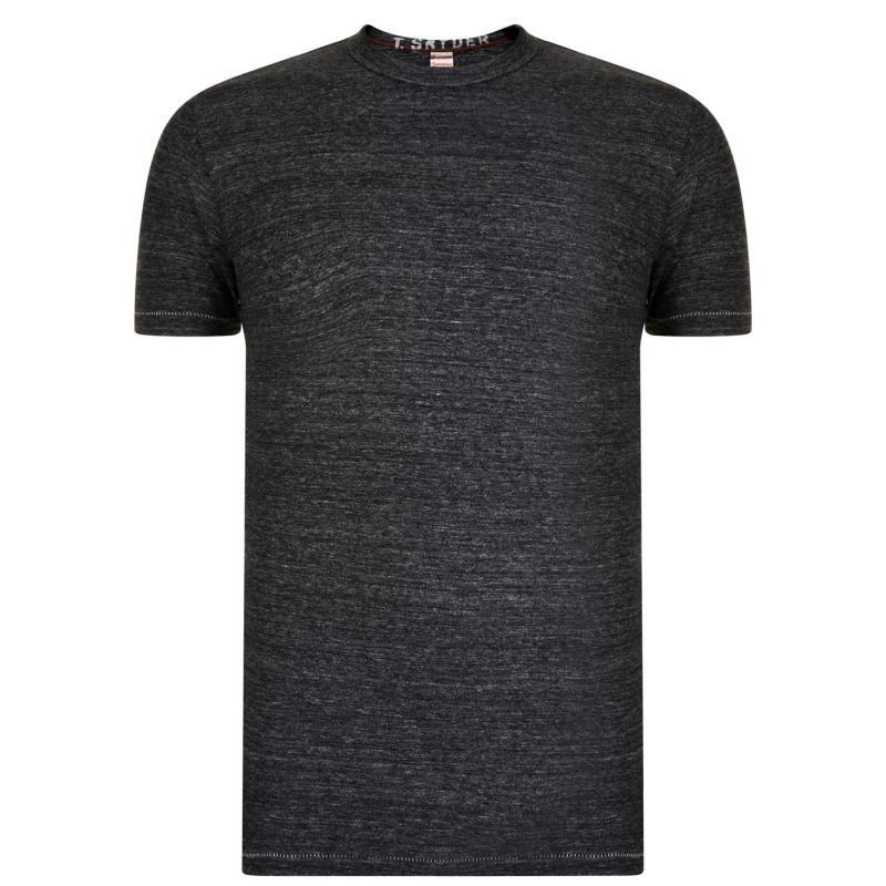 Tričko Champion Sleeve T Shirt Mens Charcoal Hthr
