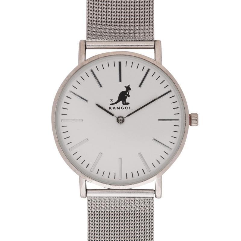 Kangol Quartz Expander Watch Mens Silver/Black