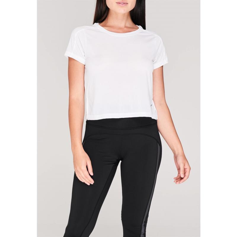 Tričko Puma LQD CELL Crop T Shirt Ladies White