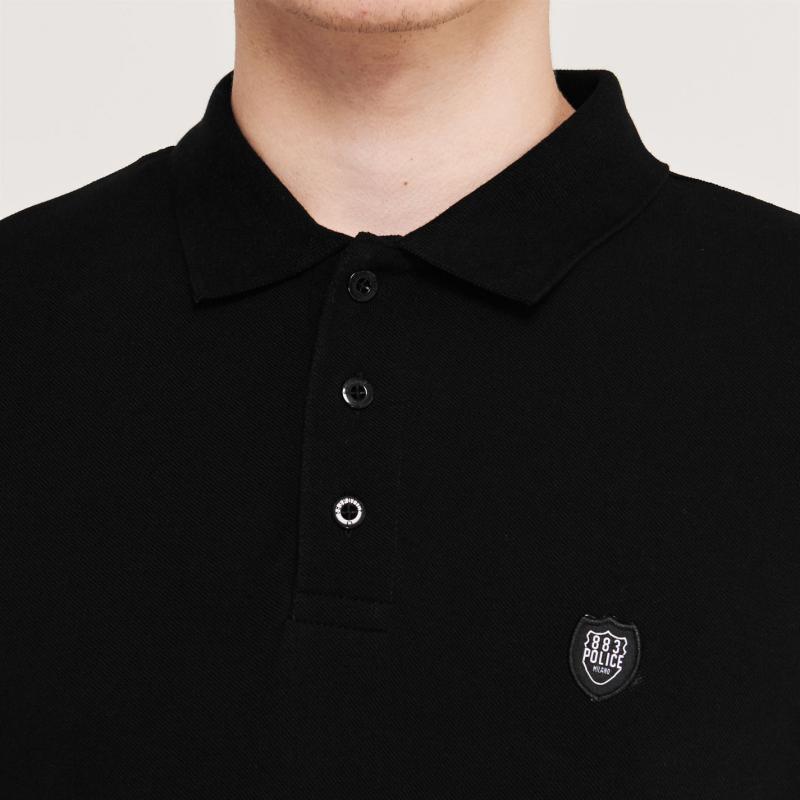 883 Police Bossa Polo Shirt Black