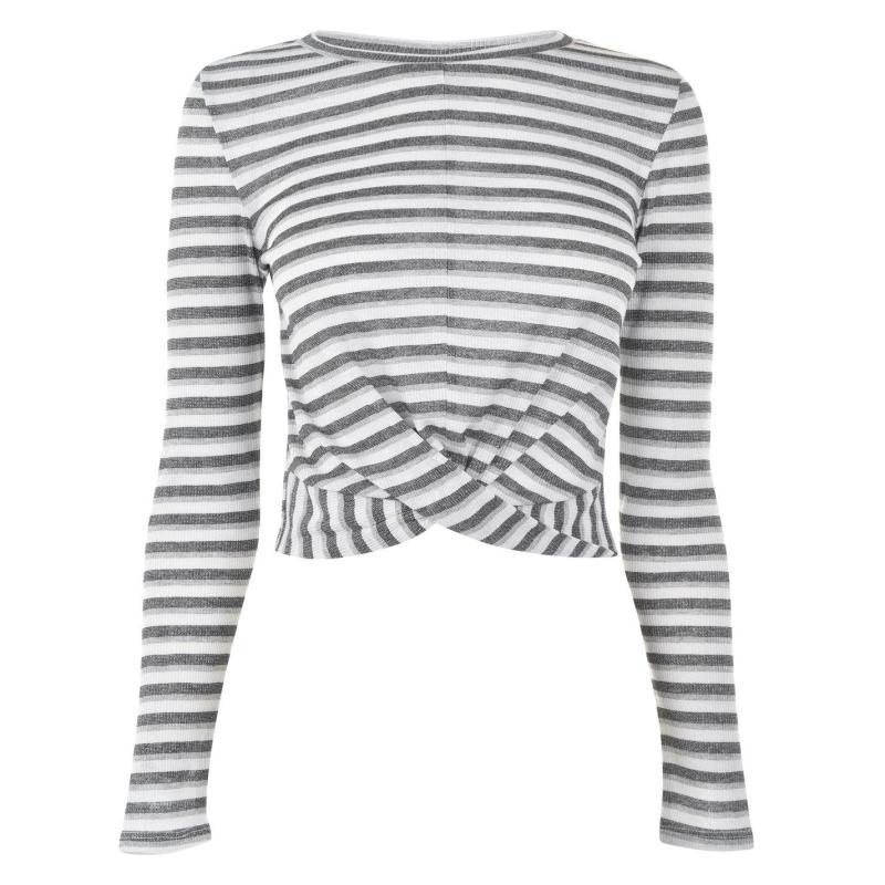 JDY Long Sleeve Top Multi Stripe