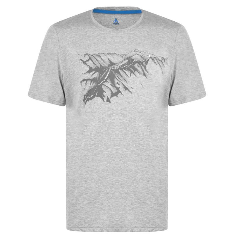 Odlo T Shirt Mens Grey Melange