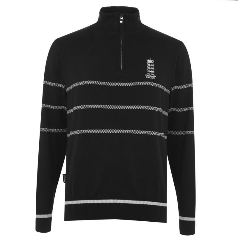 England Cricket Cricket Zip Sweater Mens Charcoal