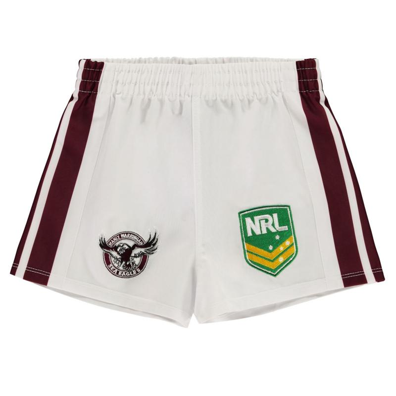 ISC Manly Warringah Sea Eagles Rugby Shorts White