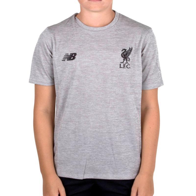 Tričko New Balance Liverpool SS Tee Grey Marl