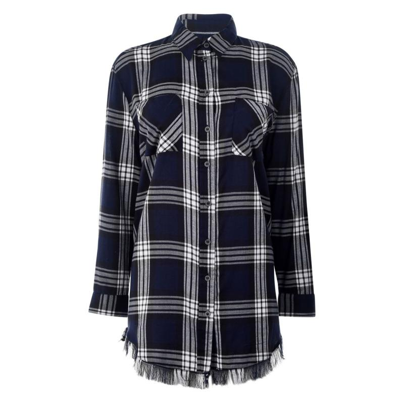 Košile Only Louise Check Shirt Sky