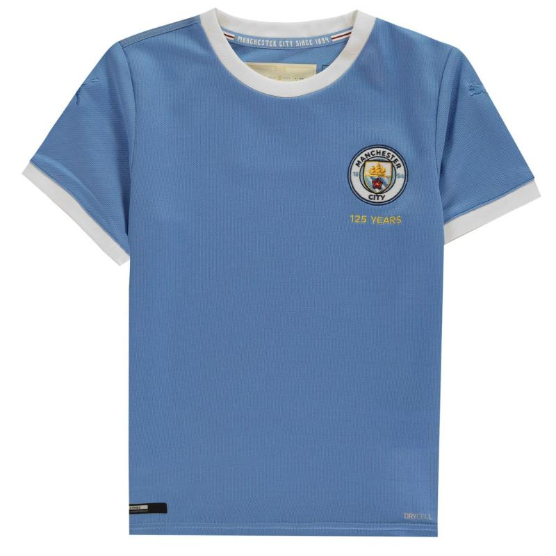Puma Manchester City 125th Anniversary Shirt Junior Blue