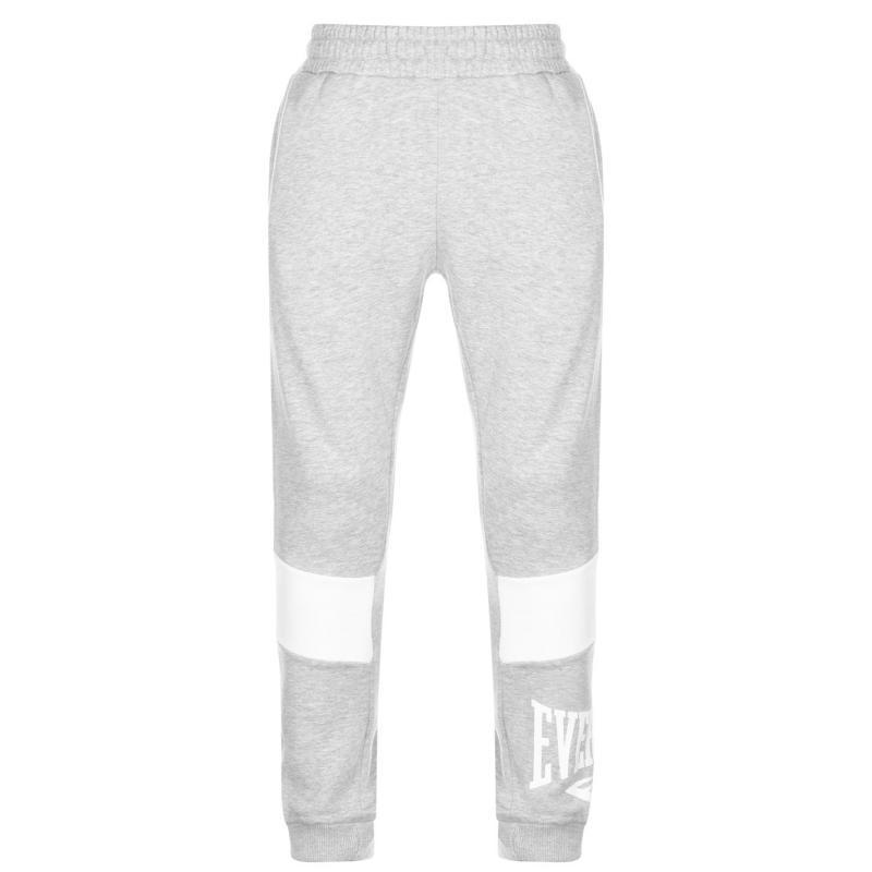 Tepláky Everlast Closed Hem Jogging Bottoms Mens Grey Marl/White