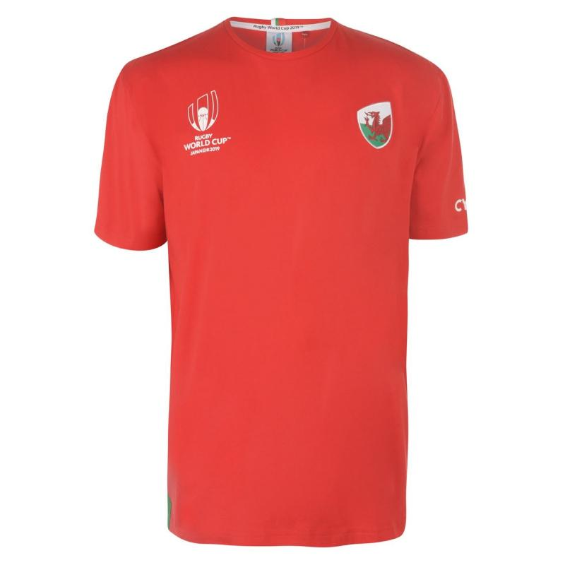 Tričko Rugby World Cup 2019 Team Cotton T Shirt Mens Wales