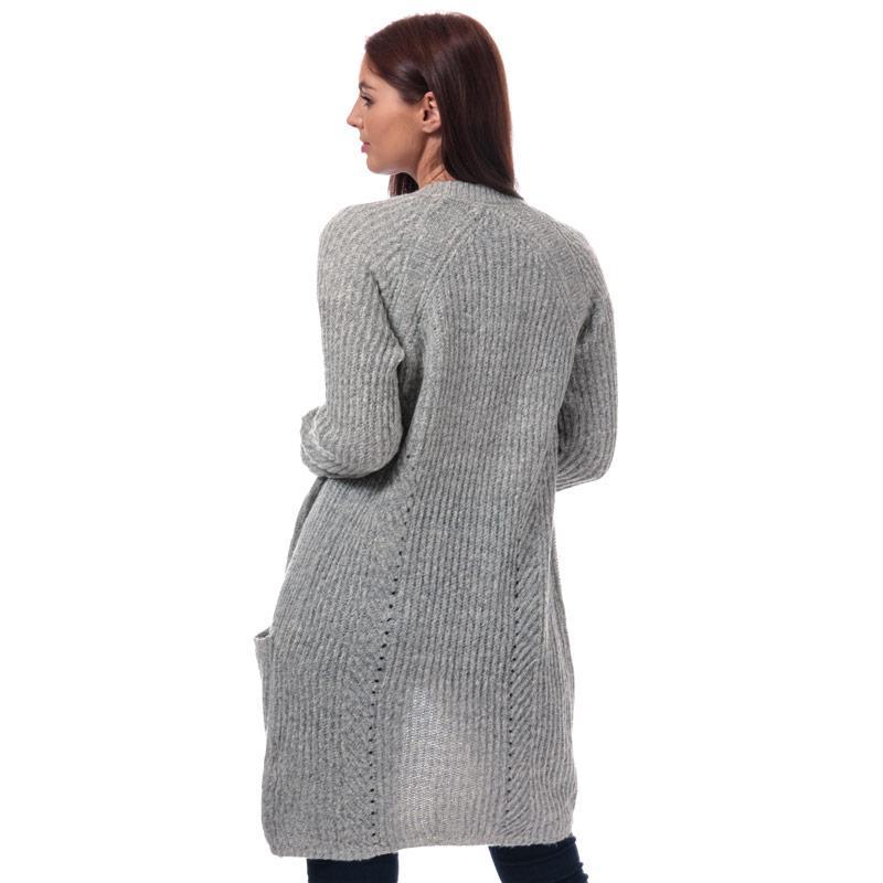Svetr Only Womens Bernice Open Cardigan Grey Marl