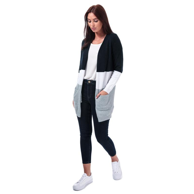 Svetr Only Womens Queen Colourblock Cardigan Navy