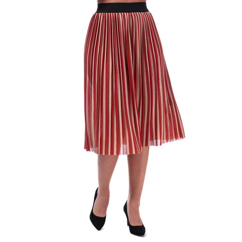 Sukně Only Womens Sway Stripe Skirt Rust