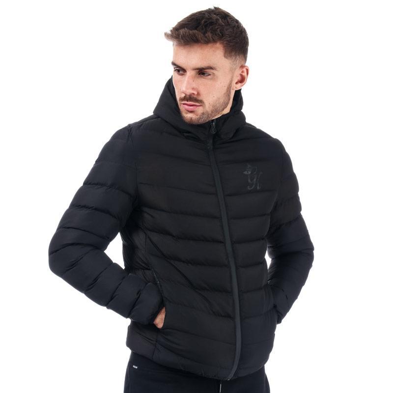 Gym King Mens Core Puffa Jacket Black