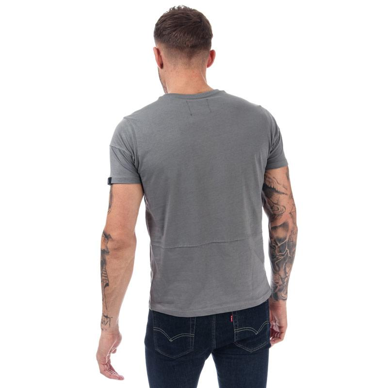 Tričko Duck And Cover Mens Crosdale Reflective Print T-Shirt Grey