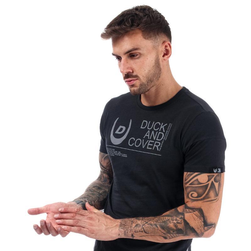 Tričko Duck And Cover Mens Crosdale Reflective Print T-Shirt Black