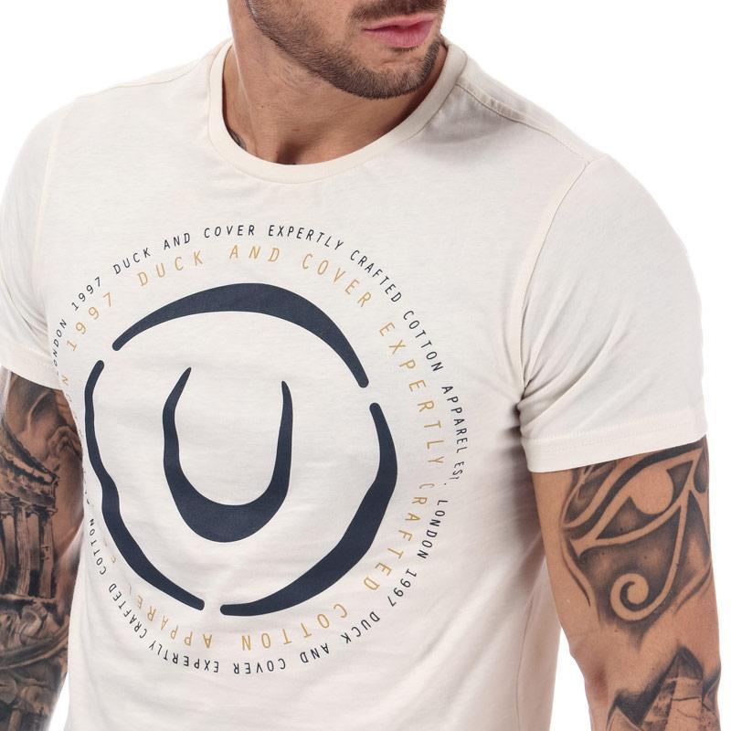 Tričko Duck And Cover Mens Denzel Logo T-Shirt Off White