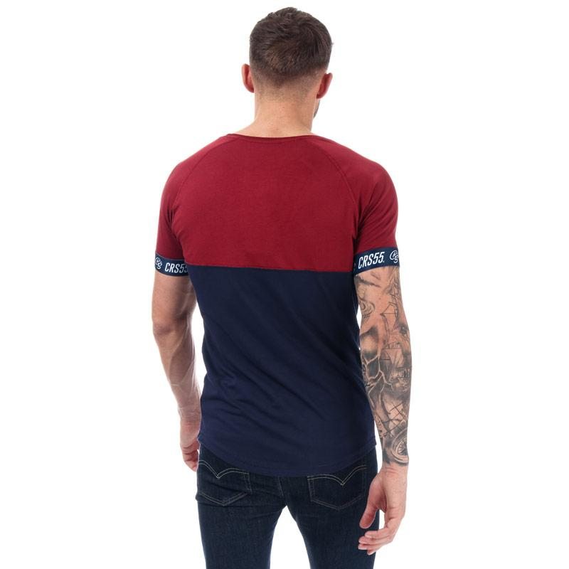Tričko Crosshatch Mens Fullerton T-Shirt Red navy