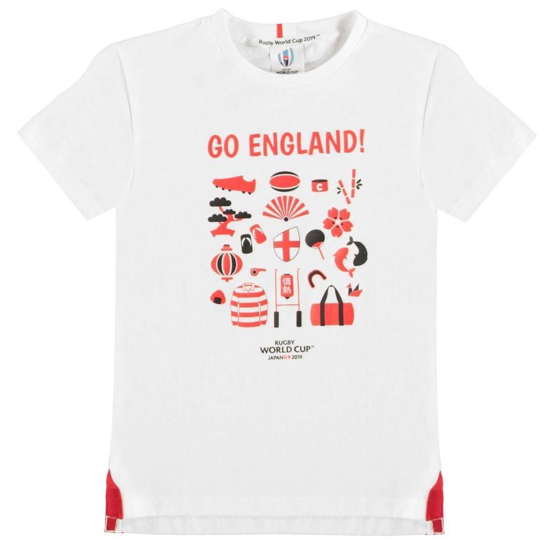 Tričko Rugby World Cup 2019 Go Team T Shirt Junior Boys England