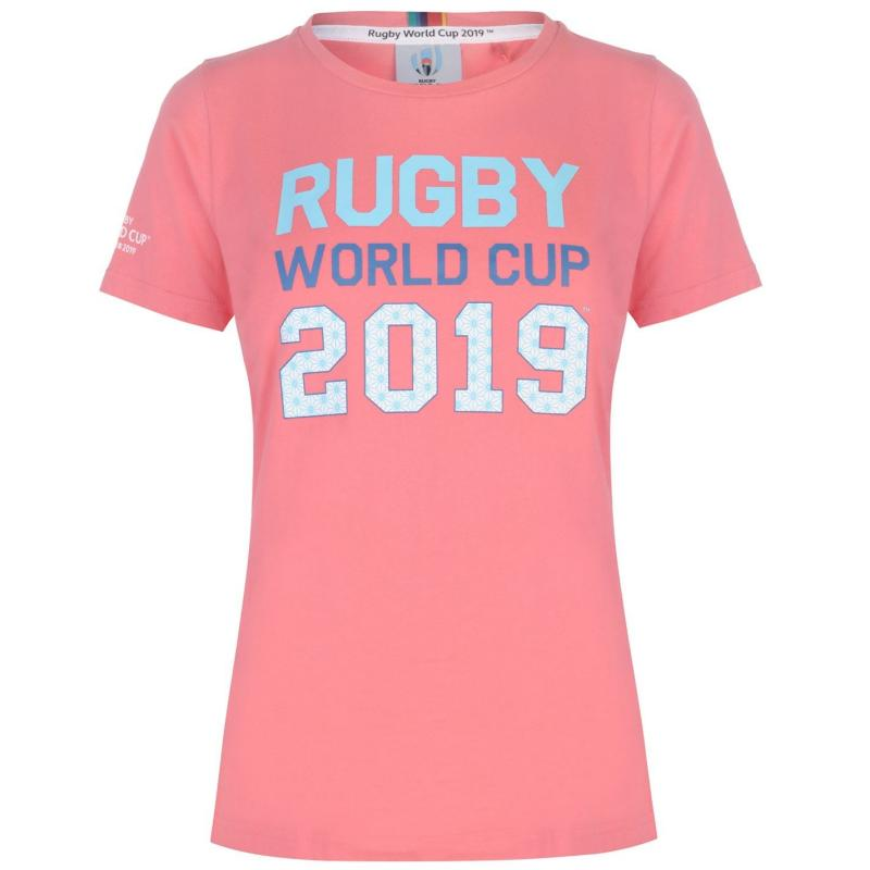 Rugby World Cup 2019 Logo T Shirt Ladies Pink