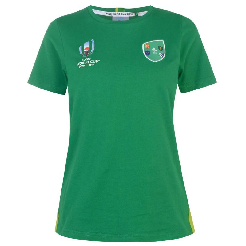 Tričko Rugby World Cup 2019 Logo T Shirt Ladies Ireland