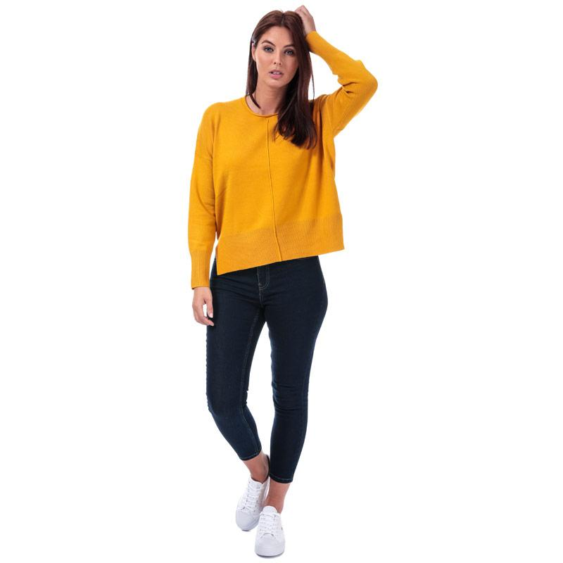 Svetr French Connection Womens Della Vhari Crew Neck Jumper Mustard