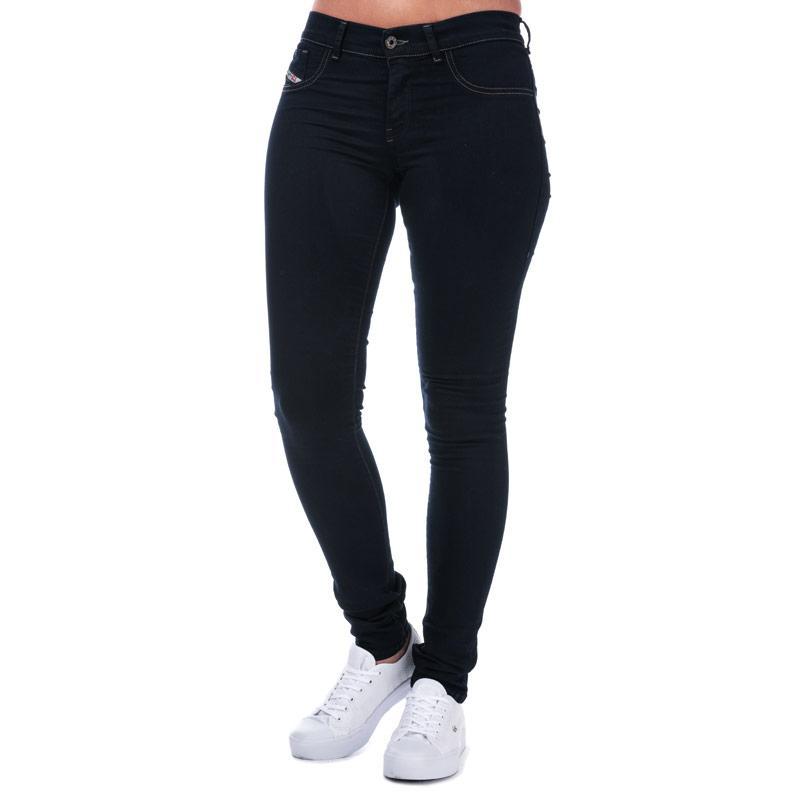 Diesel Womens Livier Super Slim Jegging Jeans Indigo