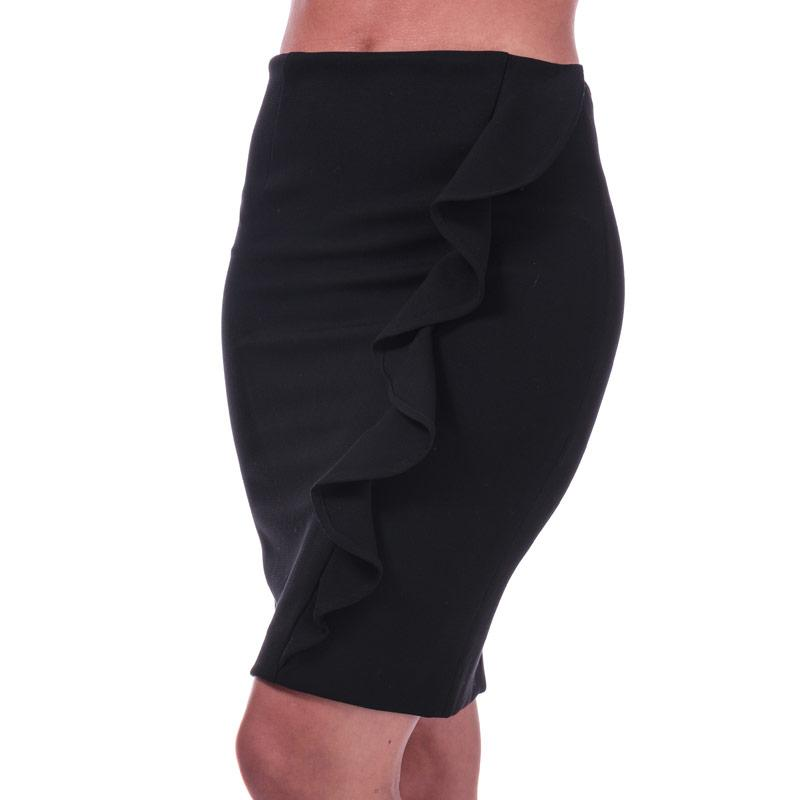 Sukně French Connection Womens Sundae Suiting Frill Pencil Skirt Black