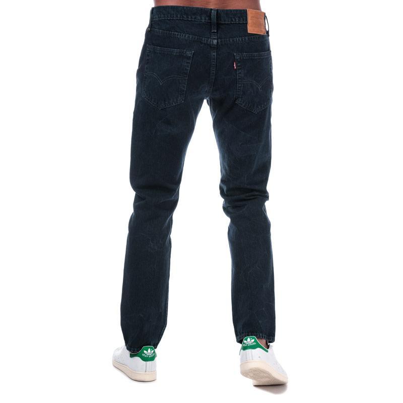 Levis Mens 502 Taper Fit Jeans Dark Blue