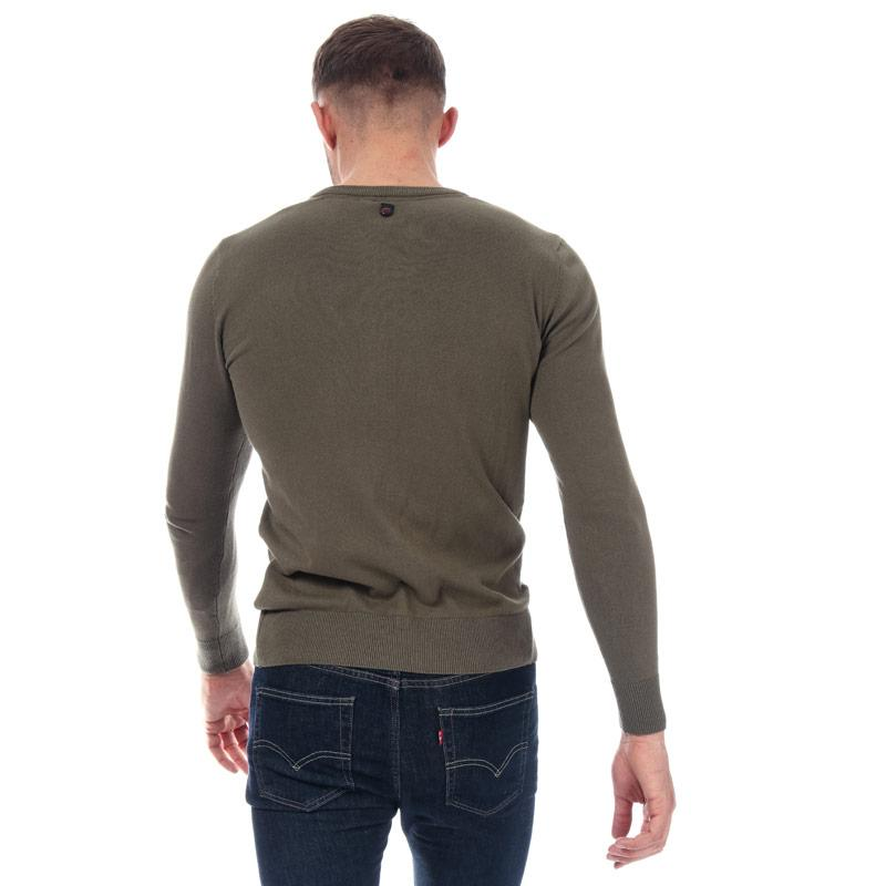 Duck And Cover Mens Bowyer V Neck Knit Khaki