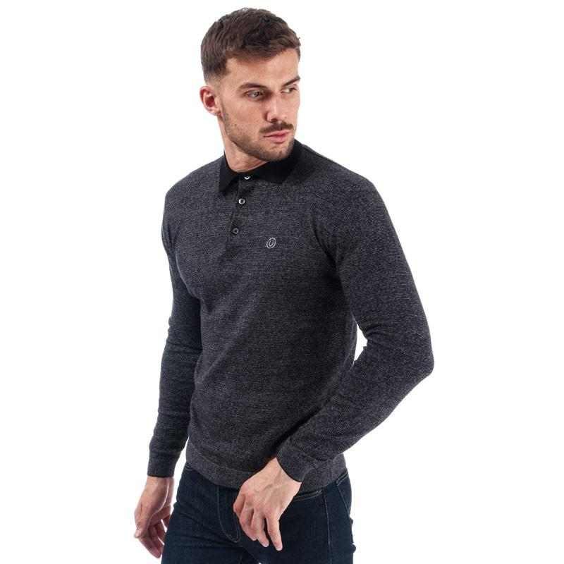 Duck And Cover Mens Cartwright Knit Polo Shirt Navy