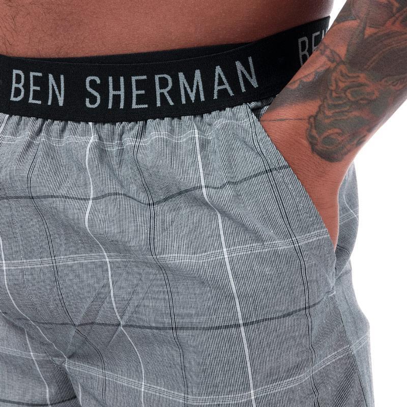 Pyžamo Ben Sherman Mens Chase Lounge Pant Black-White