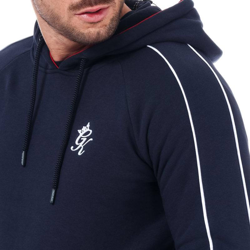Mikina Gym King Mens Lewis Tape Hoody Navy