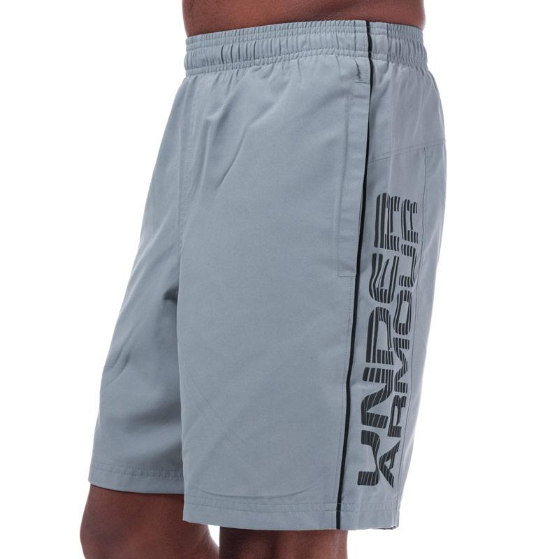Under Armour Mens UA Woven Graphic Shorts Grey