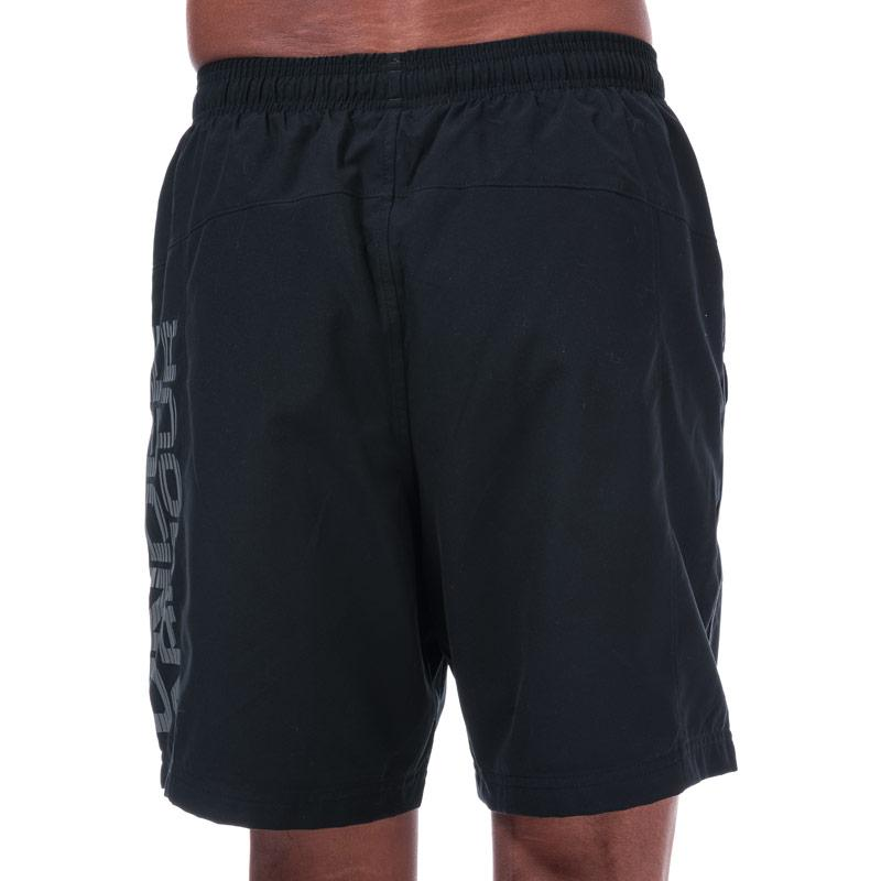 Under Armour Mens UA Woven Graphic Shorts Navy
