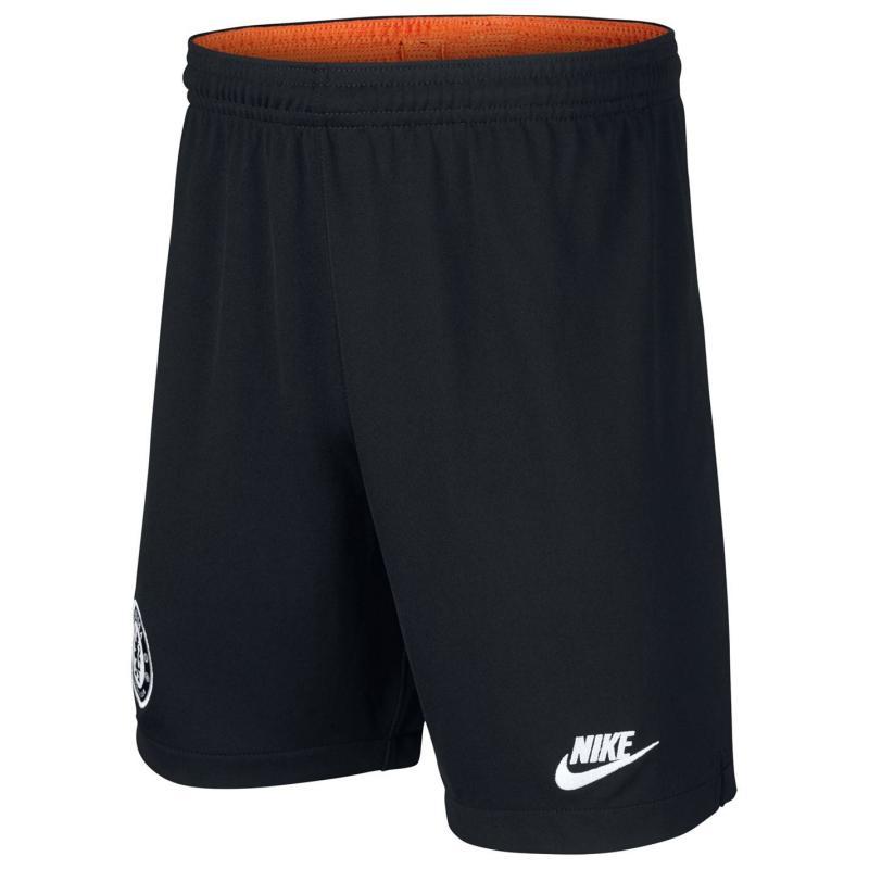 Nike Chelsea Third Shorts 2019 2020 Junior Black/White