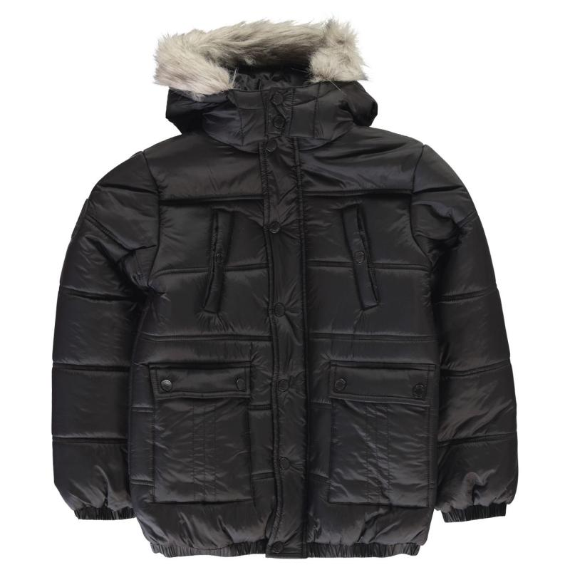 Kraťasy Firetrap Luxury Parka Junior Boys Black