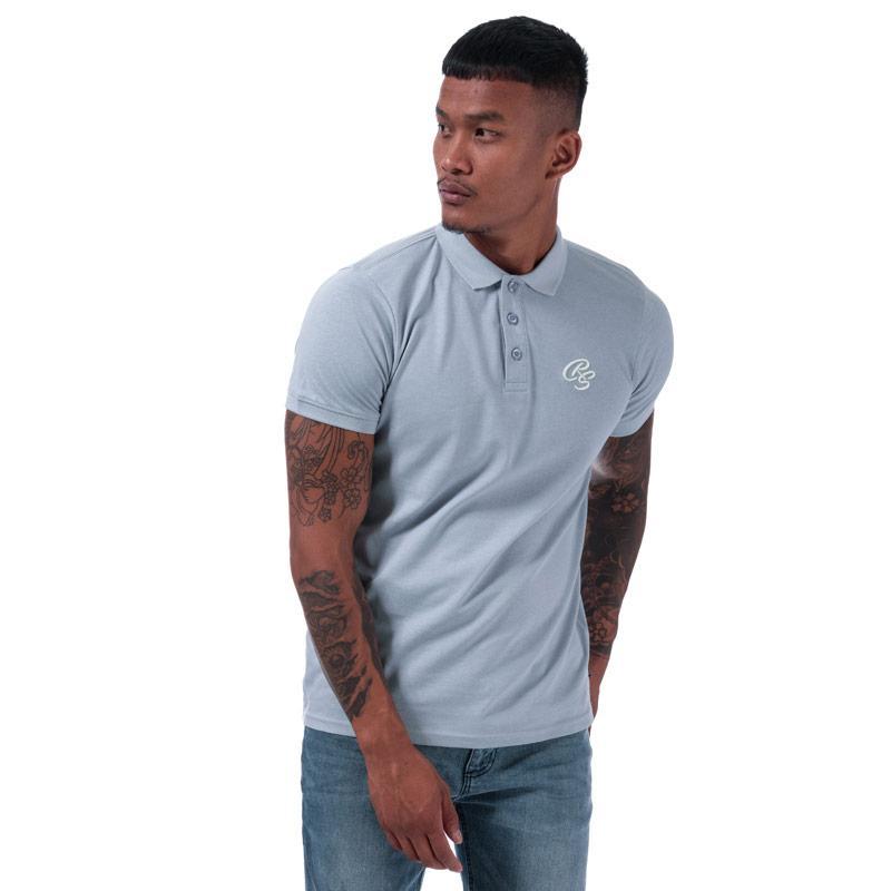 Crosshatch Mens Bingera Polo Shirt Blue
