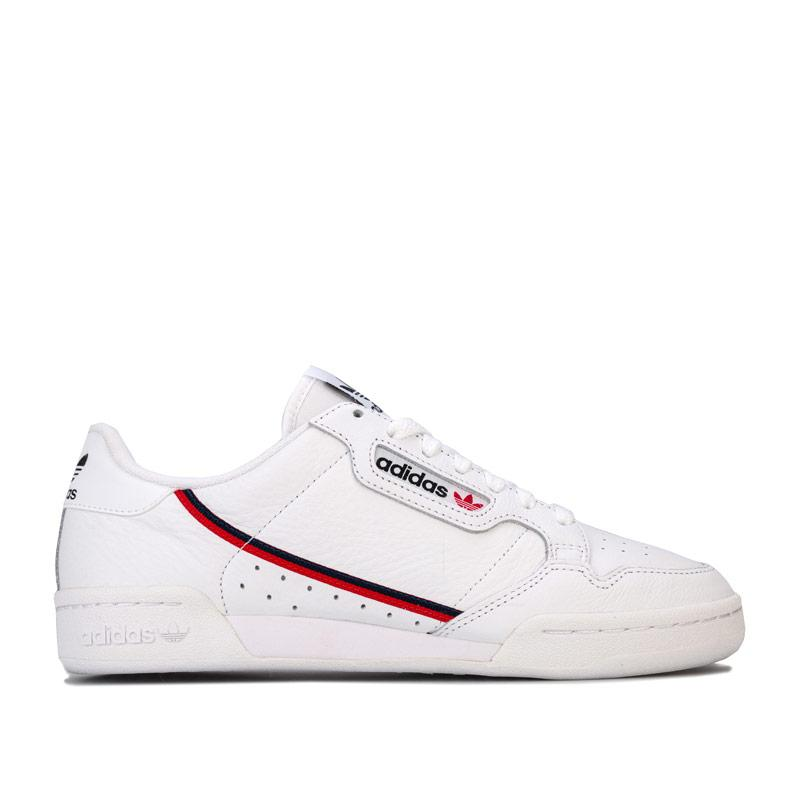 Adidas Originals Mens Continental 80 Trainers White blue red