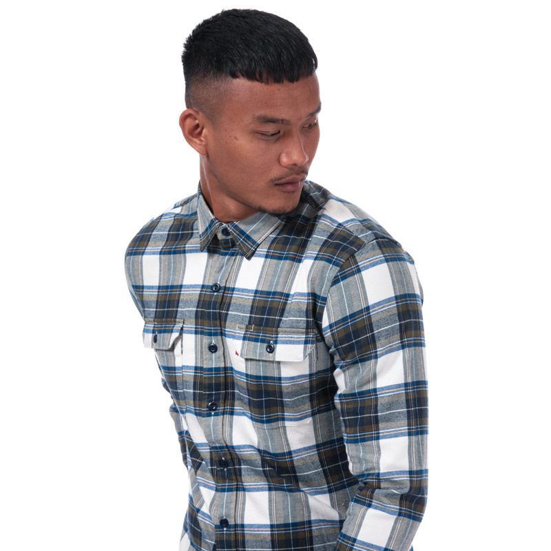 Levis Mens Jackson Worker Shirt Blue green