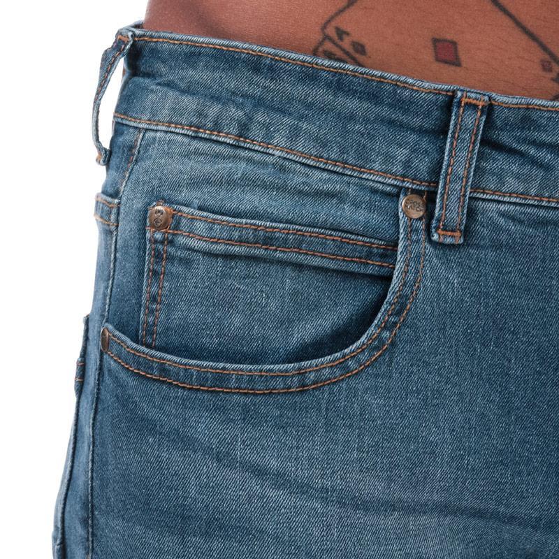 Crosshatch Mens Kiniston Skinny Ripped Jeans Denim