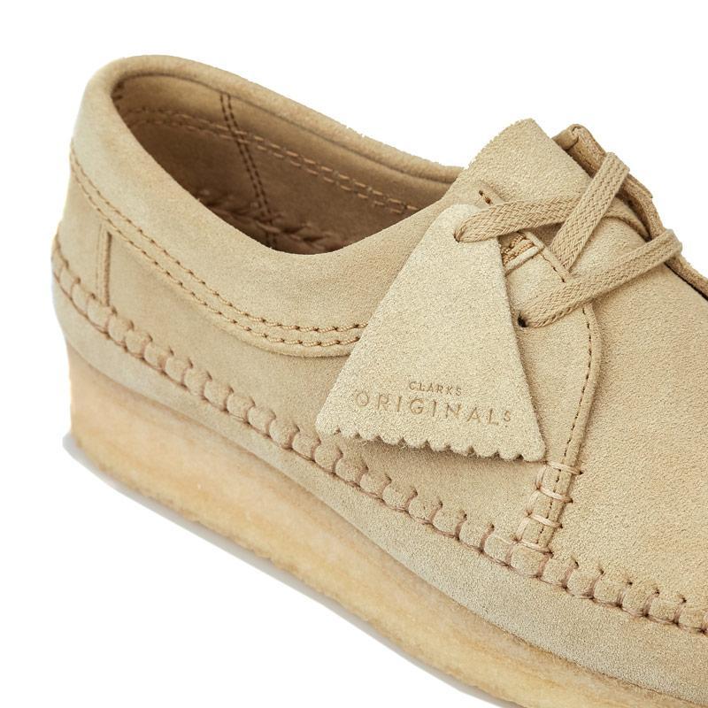 Boty Clarks Originals Mens Weaver Suede Shoes Sand