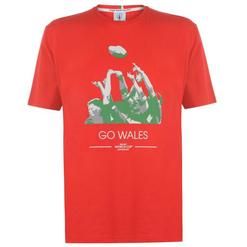 Tričko Rugby World Cup 2019 Go Team T Shirt Mens Wales