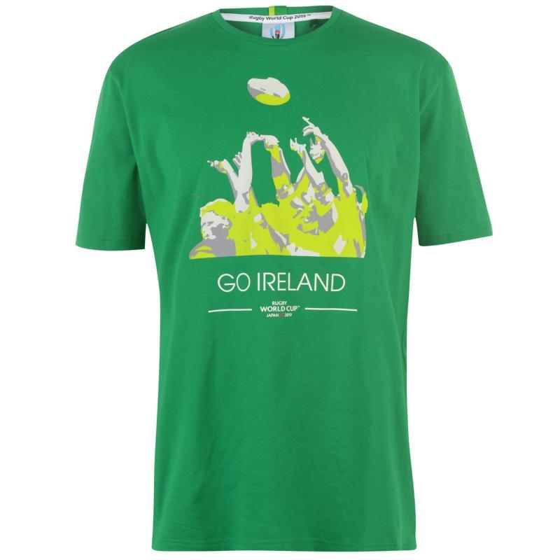 Tričko Rugby World Cup 2019 Go Team T Shirt Mens Ireland