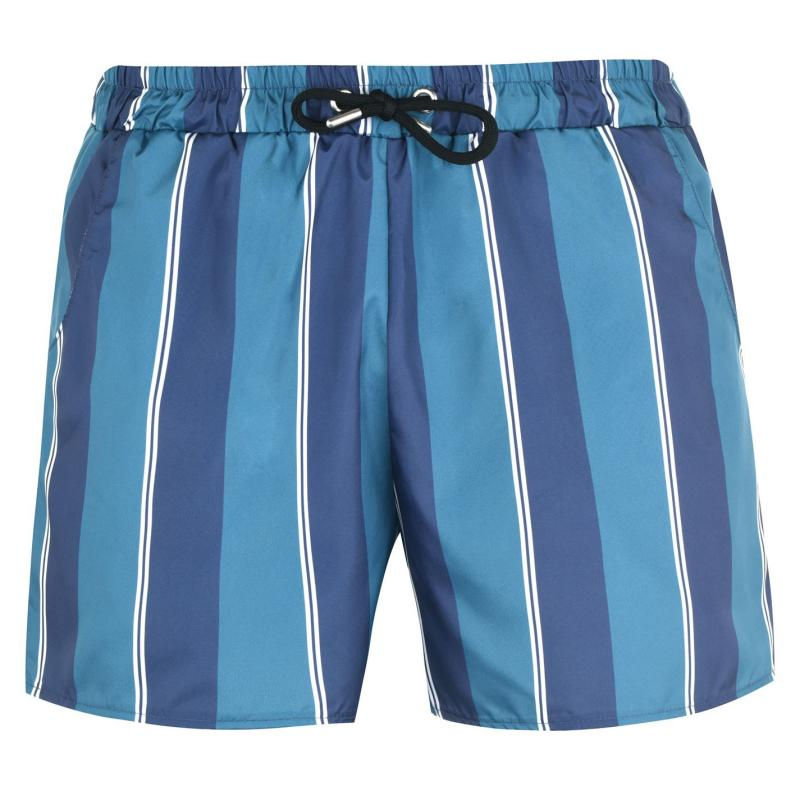 Plavky SoulCal Print Swim Shorts Mens Nvy/Teal Stripe