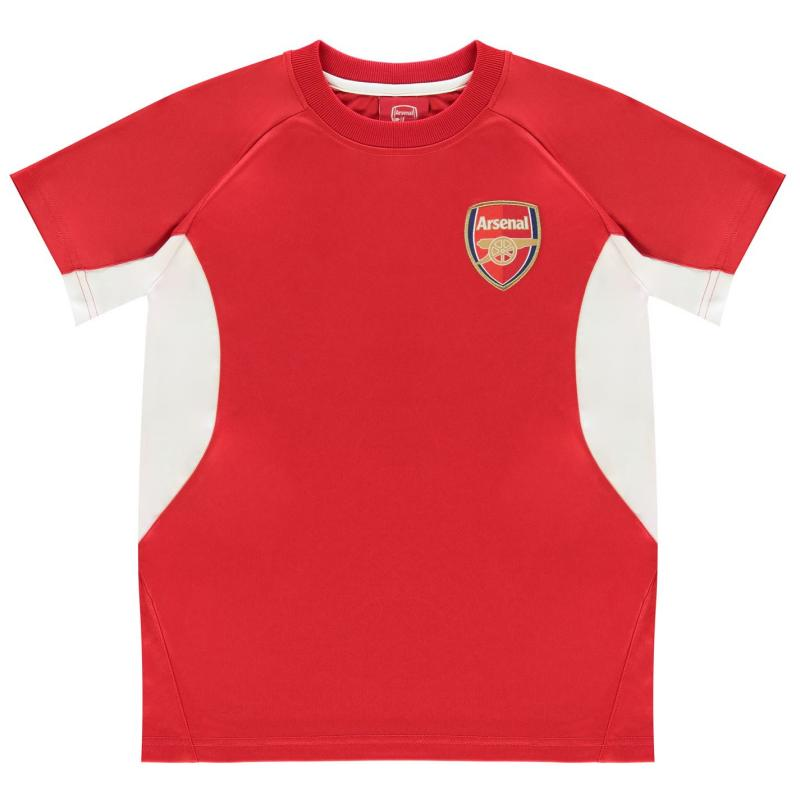 Source Lab Arsenal FC Poly T Shirt Junior Red/White
