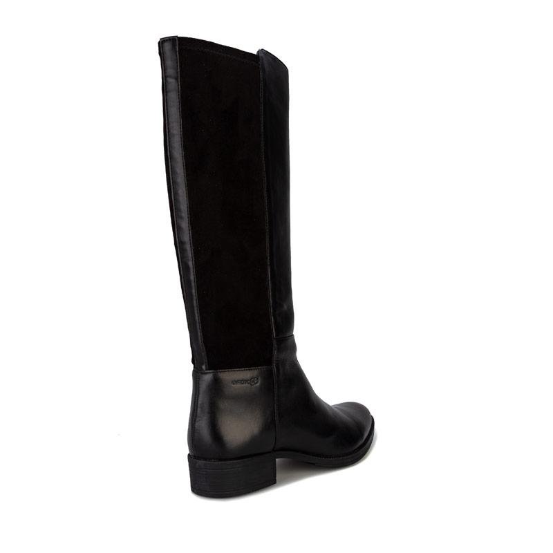 Geox Womens Laceyin Knee High Riding Boots Black
